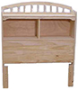 image of Pine Twin Bookcase Headboard