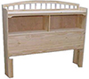 image of Pine Full Bookcase Headboard