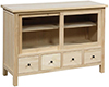image of Paulownia 48 Inch TV Cabinet