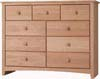 image of Alder Shaker 9-Drawer Dresser