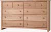 image of Alder Shaker 10-Drawer Dresser