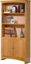 image of Alder Shaker Bookcase 72H with Doors