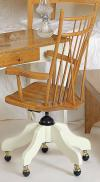 image of Cherry Birdcage Windsor Desk Chair