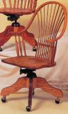 image of Oak Wheatback Desk Chair
