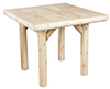 image of Cedar 35-Inch Indoor Square Solid Top Dining Table