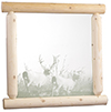 image of Cedar Mirror Etched w/Deer