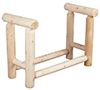 image of Cedar 3-Foot Firewood Rack