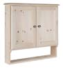 image of Medicine Cabinet shown with shelf bottom, available in Maple, Oak & Cherry