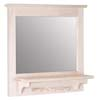 image of Mirror with Shelf and Pegs, available in Maple, Oak & Cherry