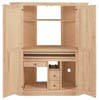 image of Corner Computer Armoire, available in Maple & Oak