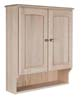 image of Toilet Topper shown with shelf bottom, available in Maple, Oak & Cherry