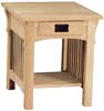 image of Oak Mission Rectangular End Table