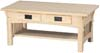 image of Oak Mission Rectangular Coffee Table