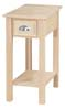 image of Provincial Chair Side Table available in Maple, Oak & Cherry