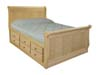image of Sleigh Platform Bed, available in Maple, Oak & Cherry