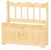 image of Deacons Storage Bench, available in Maple, & Oak