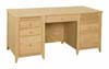 image of Executive Desk, available in Maple, Oak & Cherry