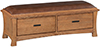 image of White Oak Prairie City 2 Drawer Bench