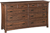 image of White Oak Prairie City Master Dresser