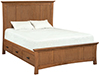 image of White Oak Prairie City Mantel Storage Bed