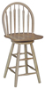 image of Parawood Arrowback Swivel Stool