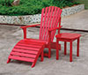 image of Red Adirondack Chair