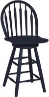 image of Parawood Arrowback Swivel Stool, Black