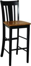 image of Parawood San Remo Stool, Black/Cherry
