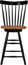 image of Parawood Swivel Spindleback Stool, Black/Cherry
