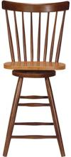 image of Parawood Swivel Spindleback Stool, Cinnamon/Espresso