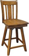 image of Parawood Canyon Swivel Stool, Pecan