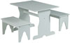 image of Parawood 3 Piece Trestle Table and Bench Set