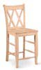 image of Parawood Double X Back Counter Stool