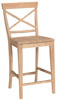 image of Parawood 24 Inch X Back Stool