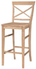 image of Parawood 30 Inch X Back Stool
