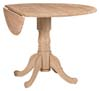 image of Parawood Dropleaf Pedestal Table