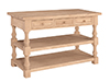 image of Parawood Tuscan Kitchen Island